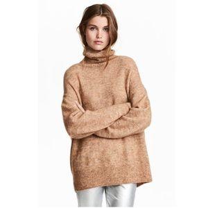 H&M Mohair blend beige turtleneck sweater